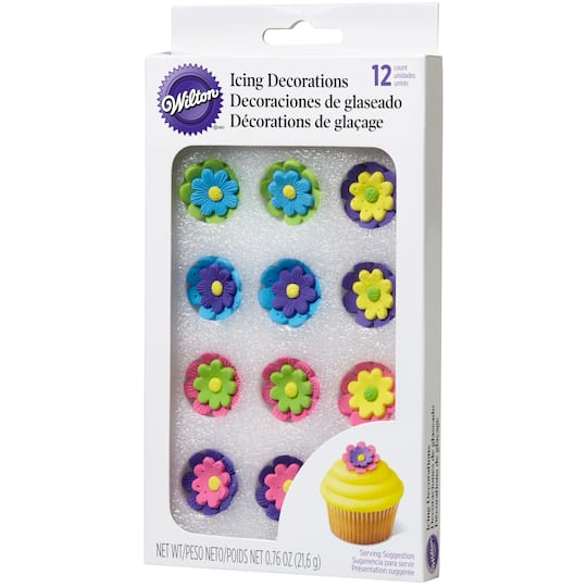 Wilton Icing Decorations Bright Flower Candy