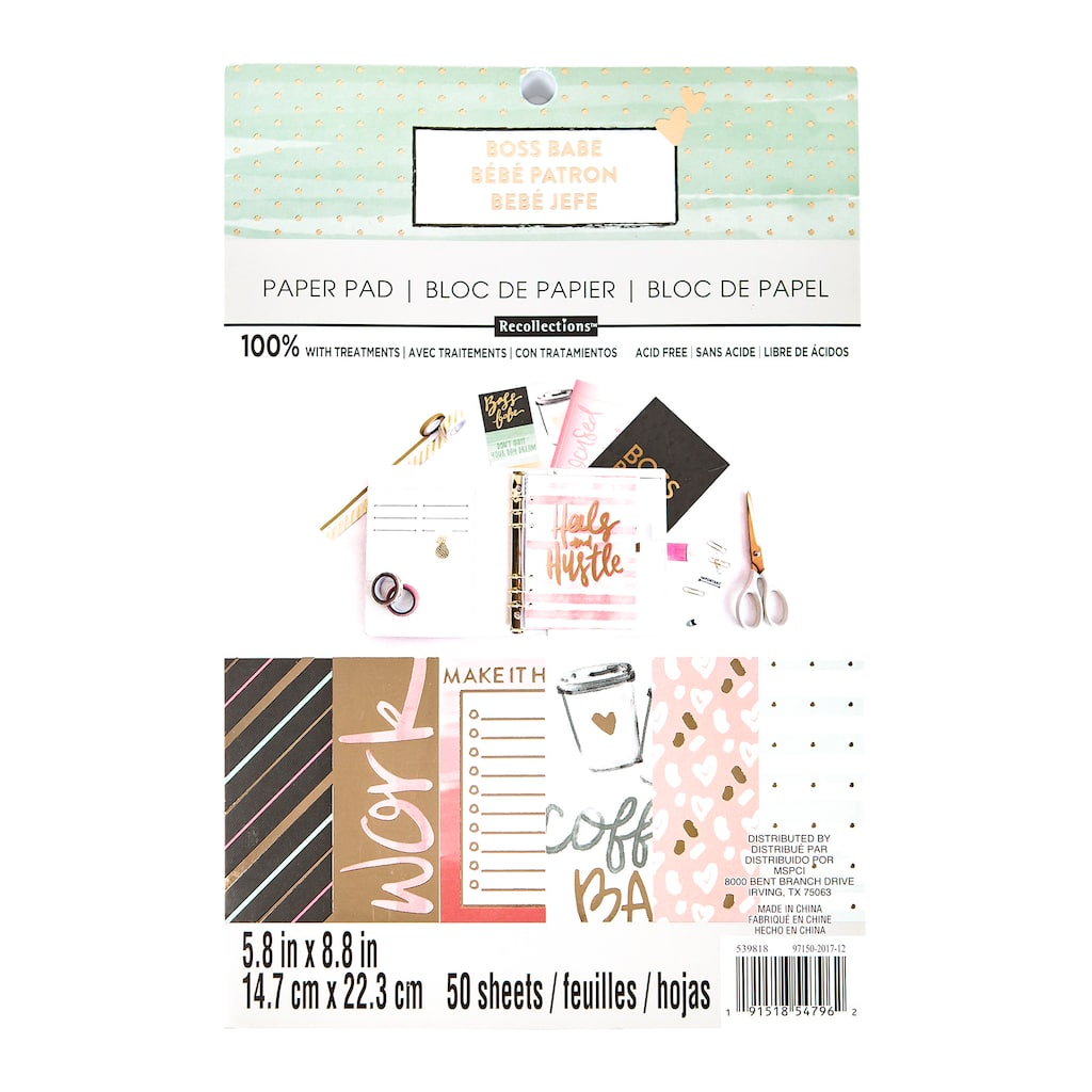 Buy the Boss Babe Paper Pad By Recollections™ at Michaels