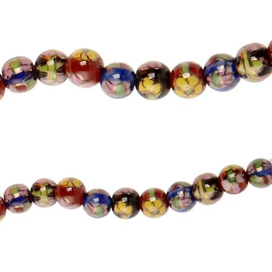Ceramic Bead Beads: Bead Gallery® Ceramic Beads, Multicolored Floral