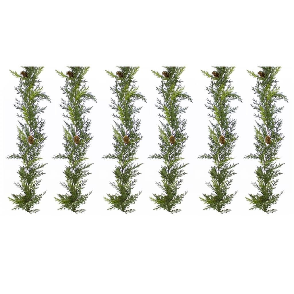 5.5ft Arborvitae Garland, Set Of 6 by Null