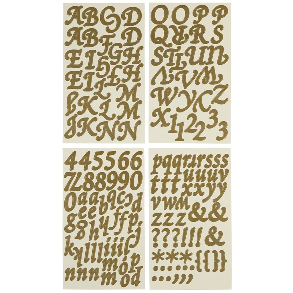 large letter stickers large golden alphabet stickers by recollections 22687 | 10122758