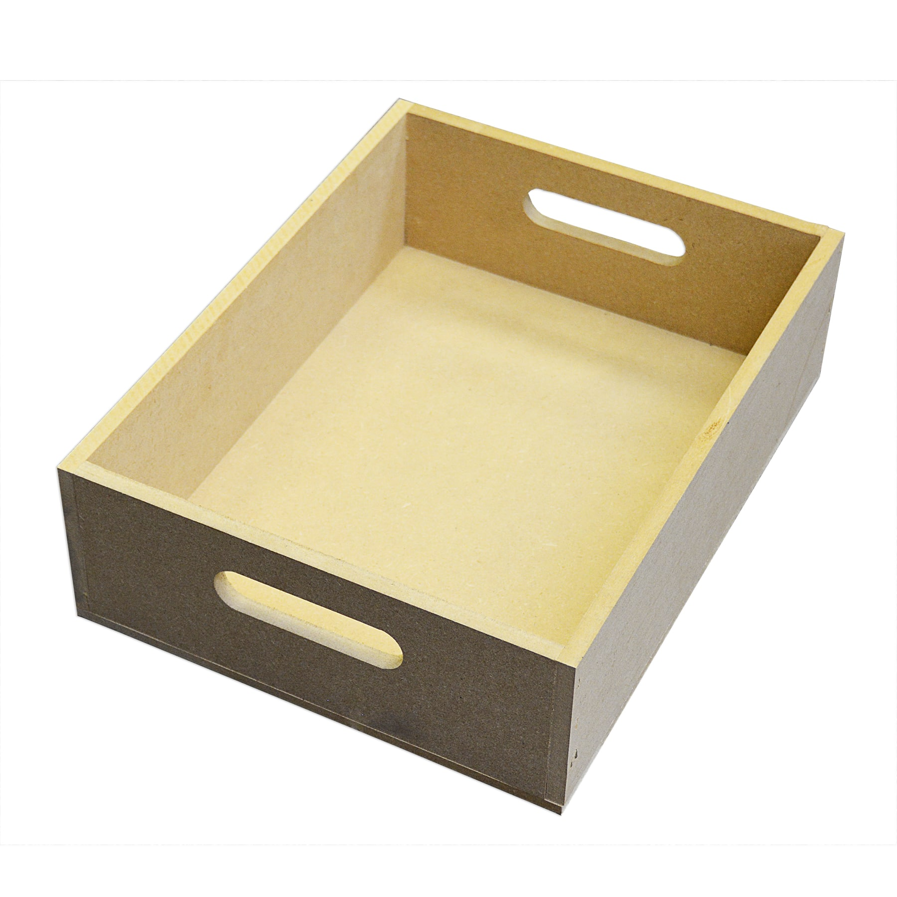 Mdf Wood Crate With Handles By Artminds®