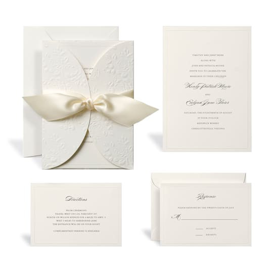 Embossed Ivory Wrap Wedding Invitation Kit By Celebrate ItTM