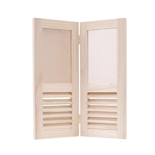 Unfinished Wood Shutter Frame by ArtMinds™, 2 Openings