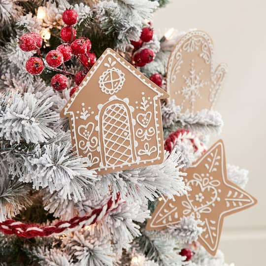 - Pinecone Lodge Gingerbread Christmas Ornaments