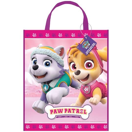 Large Plastic Girl PAW Patrol Goodie Bag, 13