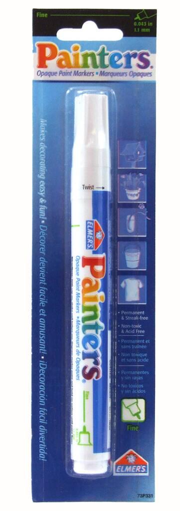Elmers Painters Opaque Paint Marker Fine Tip White