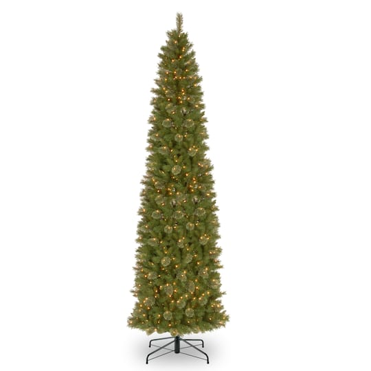 12 ft. Pre-lit Tacoma Pine Pencil Artificial Christmas Tree, Clear Lights - Buy The 12 Ft. Pre-lit Tacoma Pine Pencil Artificial Christmas Tree