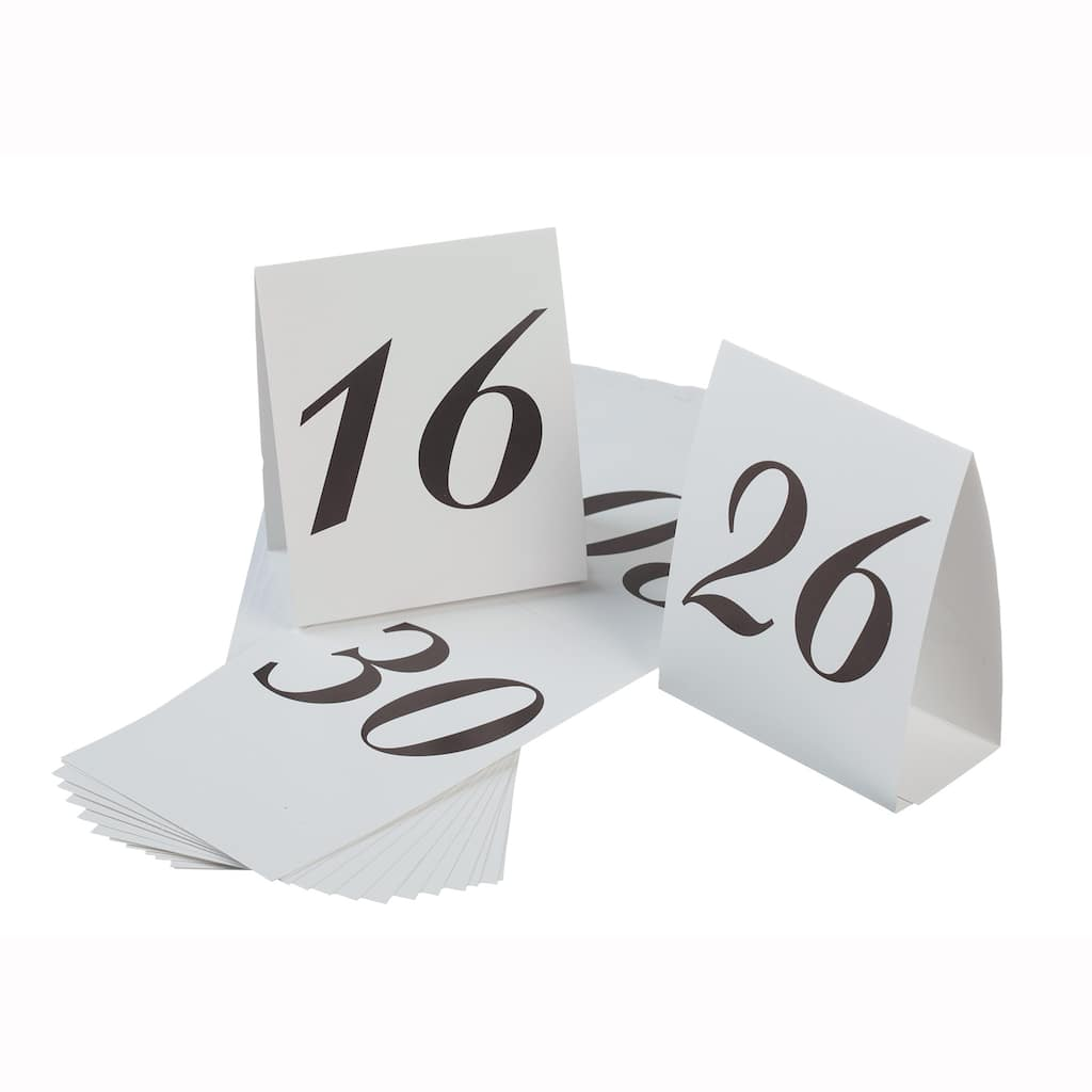 victoria lynn table number cardboard tents numbers 16 30. Black Bedroom Furniture Sets. Home Design Ideas