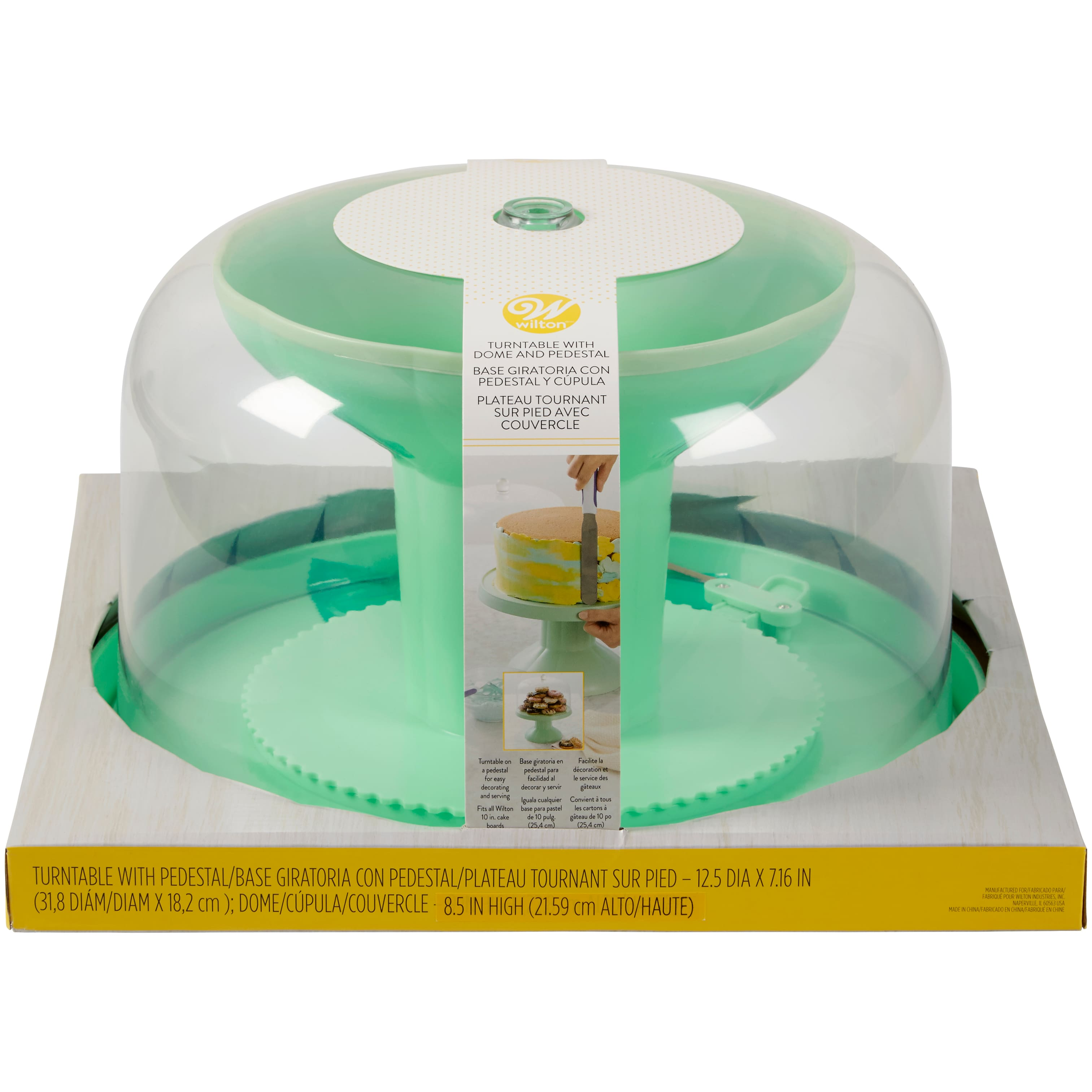 Wilton® Turntable with Dome & Pedestal