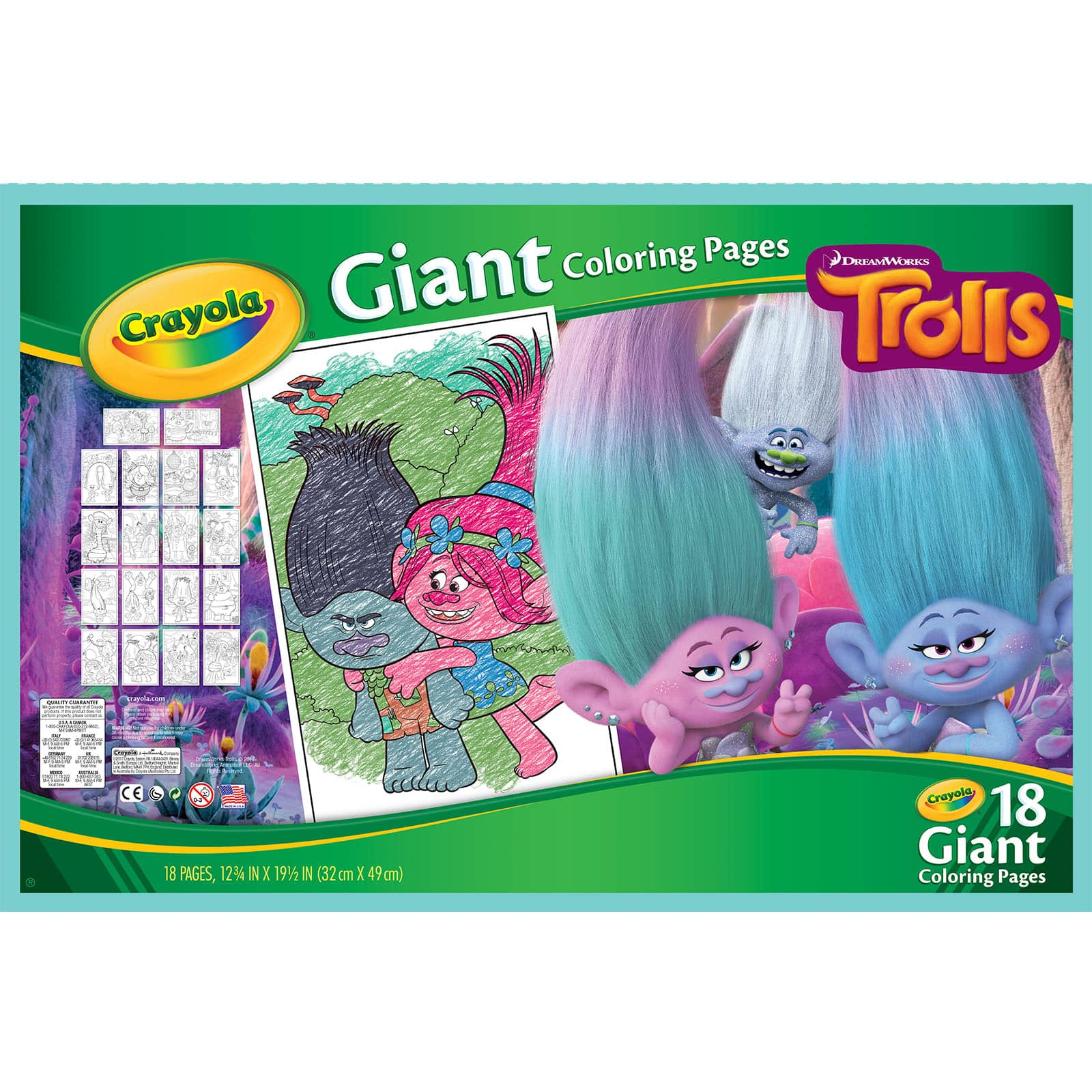Crayola® Trolls Giant Coloring Pages Michaels
