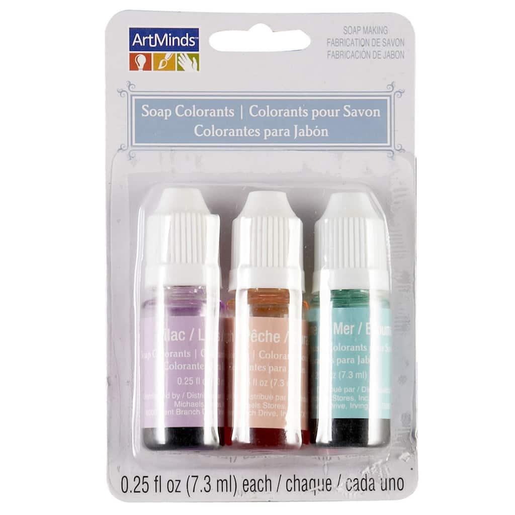 ArtMinds® Soap Colorant, Lilac, Peach, Seafoam