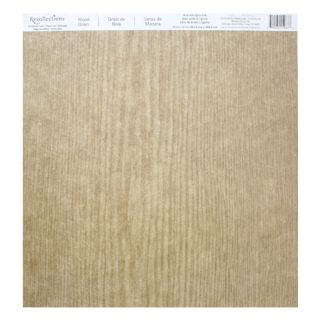 Wood Grain Scrapbook Paper by Recollections®