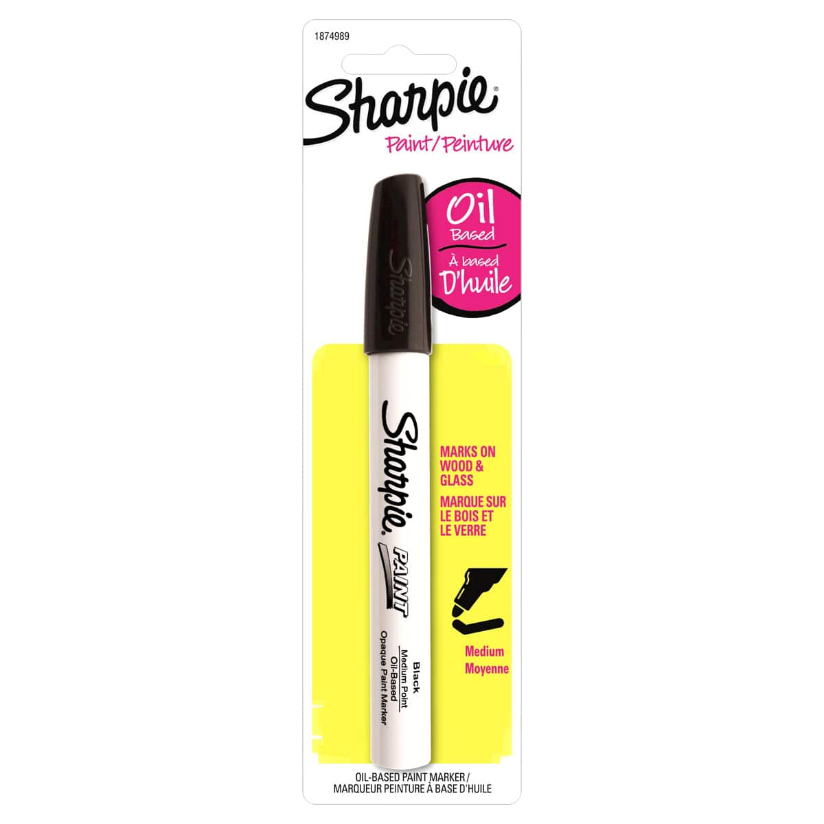 Sharpie Opaque Oil Based Paint Markers Medium Tip White 2pk