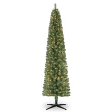 7ft pre lit pencil artificial christmas tree clear lights by ashland - Michaels Christmas Decorations 2017