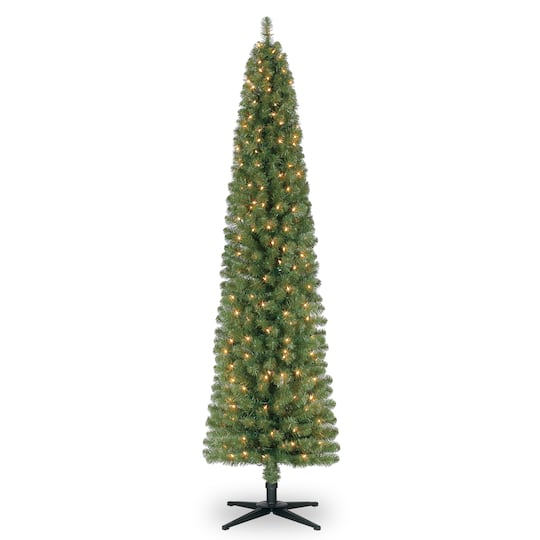 Pictures Of Christmas Trees.7ft Pre Lit Artificial Pencil Christmas Tree Clear Lights By Ashland