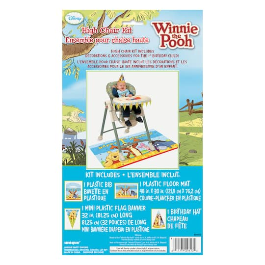 Winnie The Pooh First Birthday High Chair Decorating Kit