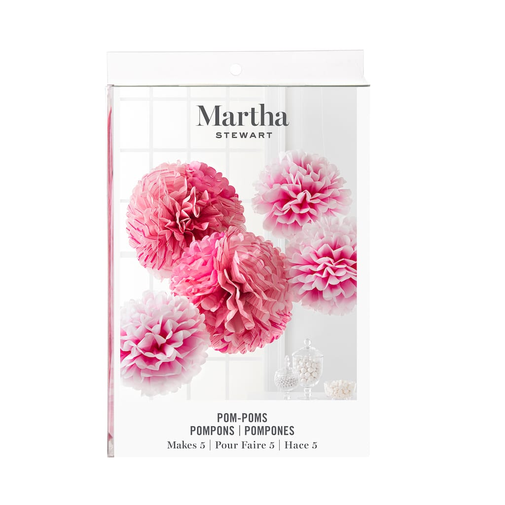 Find The Martha Stewart Pink Ombre Tissue Pom Poms At Michaels