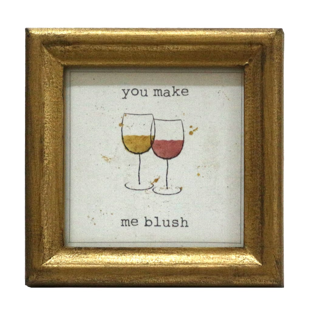 Buy the Wine Glass Mini Sentiment Frame By Studio Decor® at Michaels