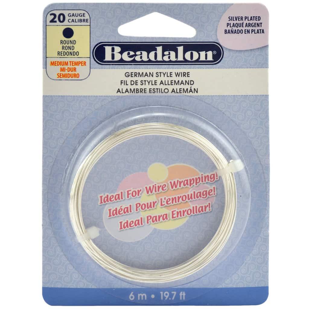 Beadalon German Style Wire Round 20 Gauge Aluminum Wiring Hazards Img