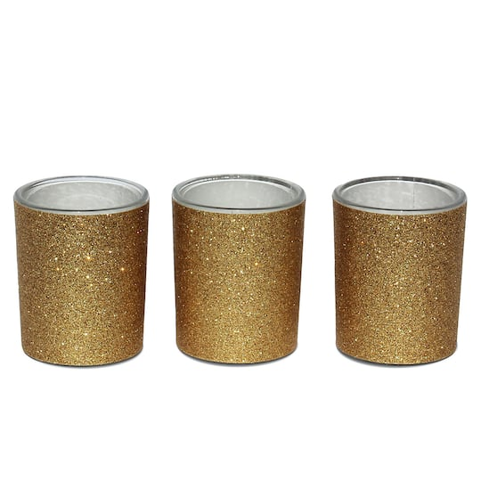 ac9dbd4c3bb9 Celebrate It™ Occasions™ Votive Holders, Gold Glitter