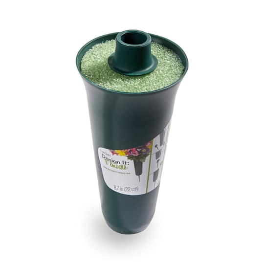 Find The Floracraft Design It Flowers Green Cemetery Vase With