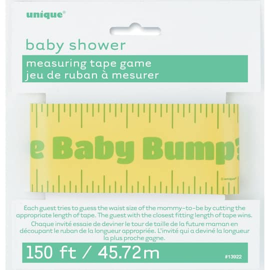 6e323561ee295 Baby Shower Baby Bump Measuring Tape Game