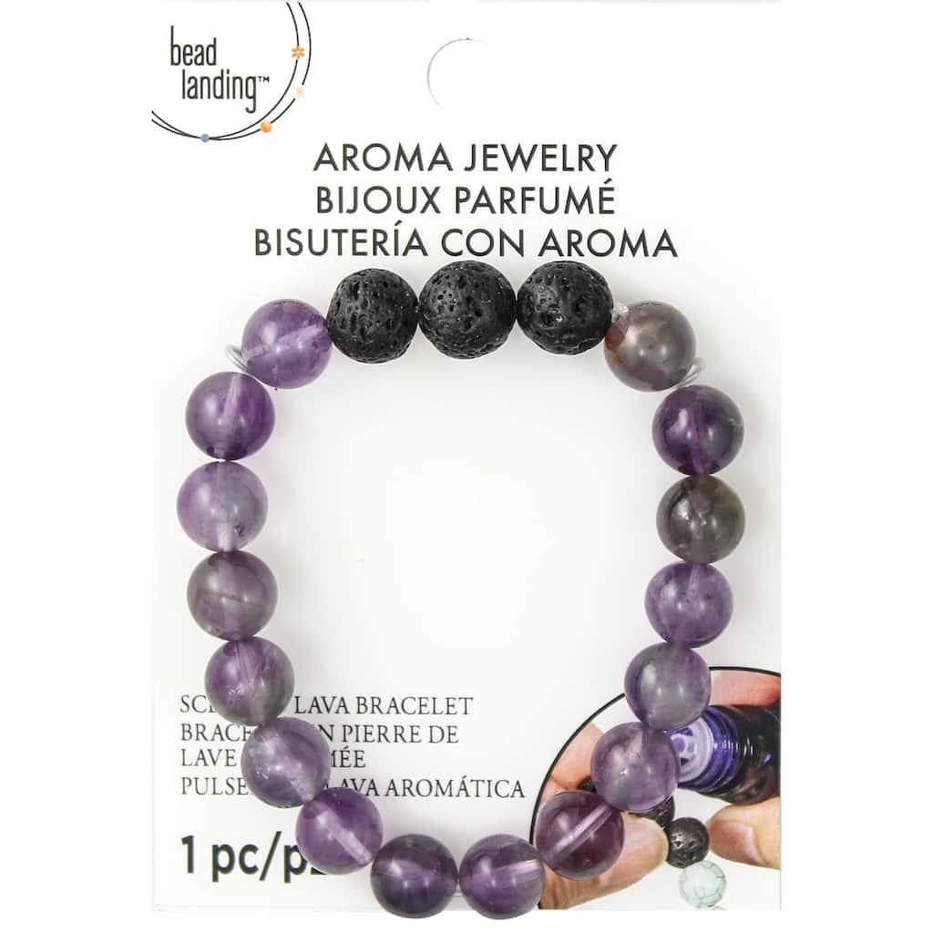 Essential Oil Diffuser Bracelet Amethyst /& Lava Bead Bracelet
