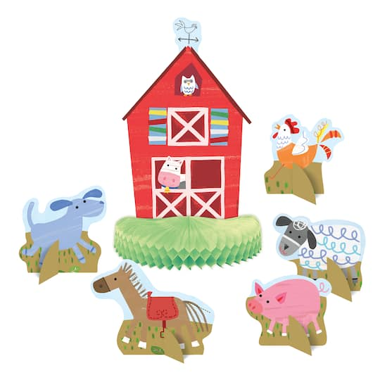 Farm Party Centerpiece Decoration 6pc Img