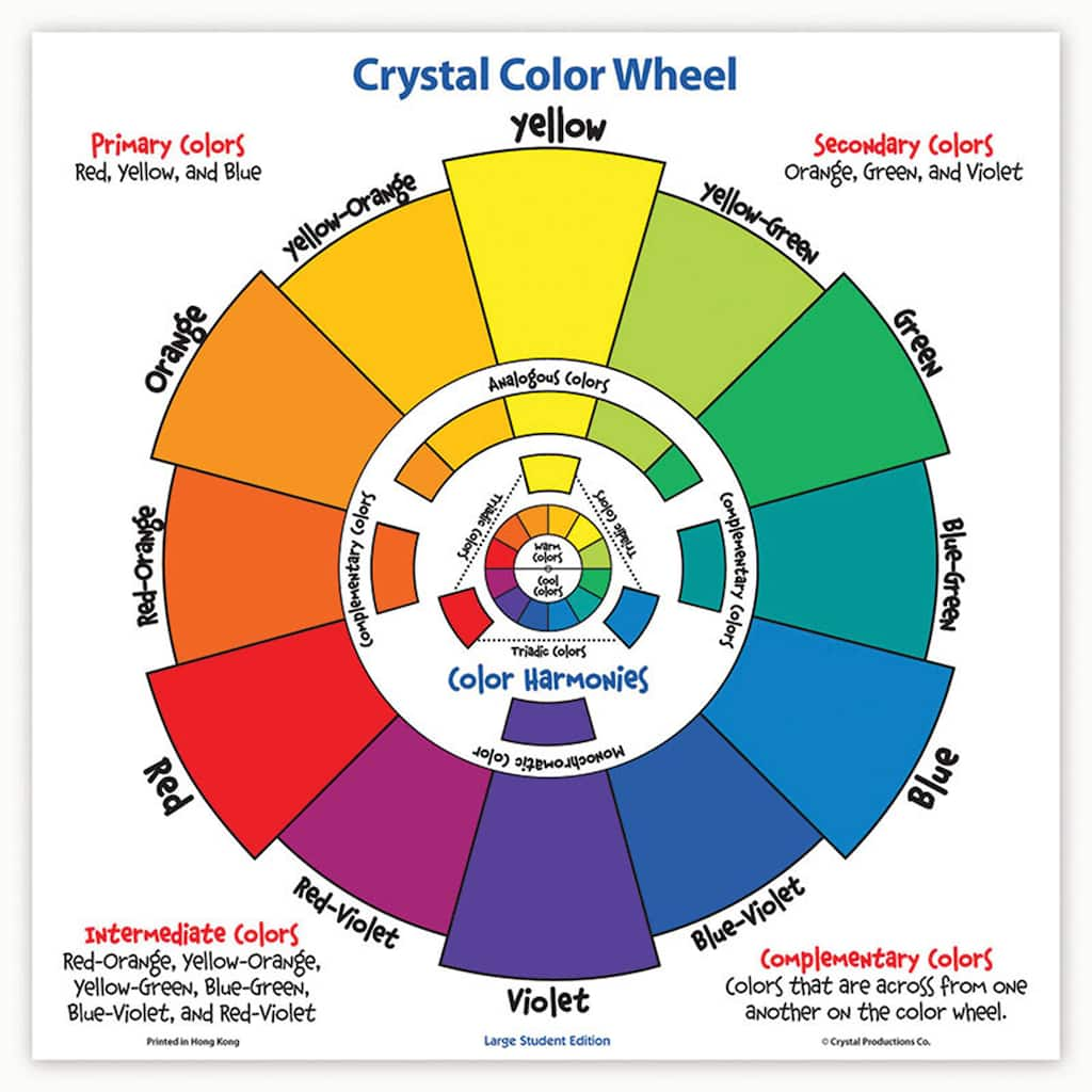 Get The Crystal Production Large Student Color Wheel At Michaels