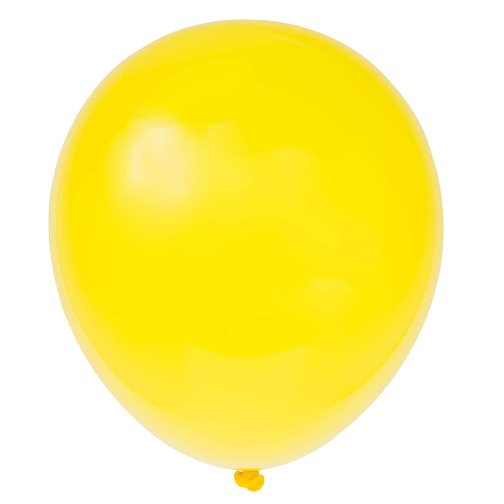 Latex Sunburst Yellow Party Balloons | Yellow Party ...