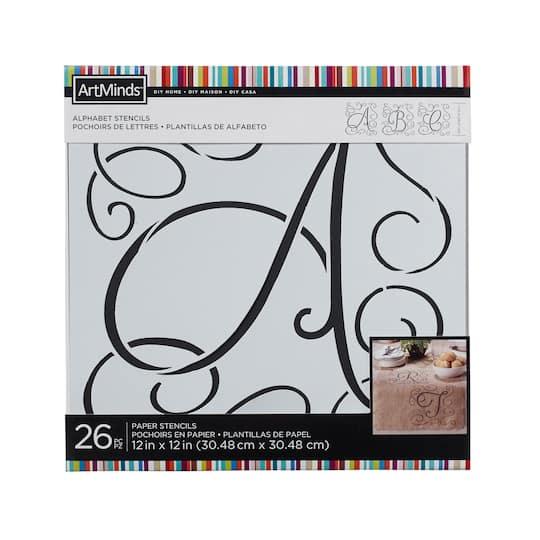 DIY Home Elegance Alphabet Stencils by ArtMinds®