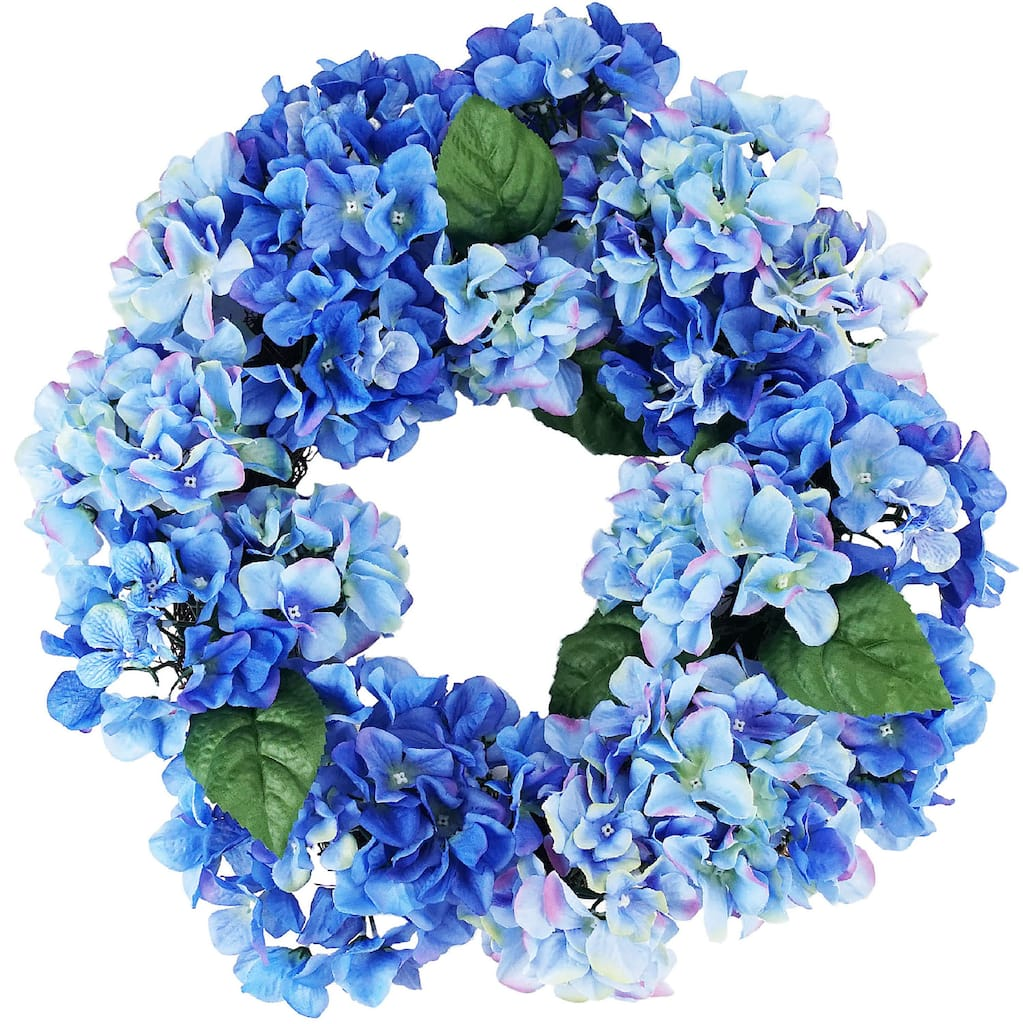 22 blue green hydrangea floral wreath 22 blue green hydrangea floral wreath img izmirmasajfo