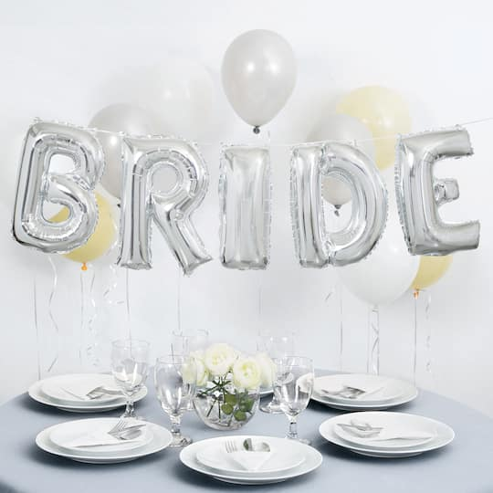 Diy Wedding Word Banners: Foil Bride Balloon Word Banner Kit