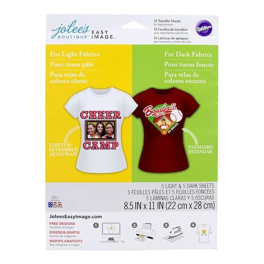 Jolee's Boutique® Easy Image® Transfer Paper, Light & Dark