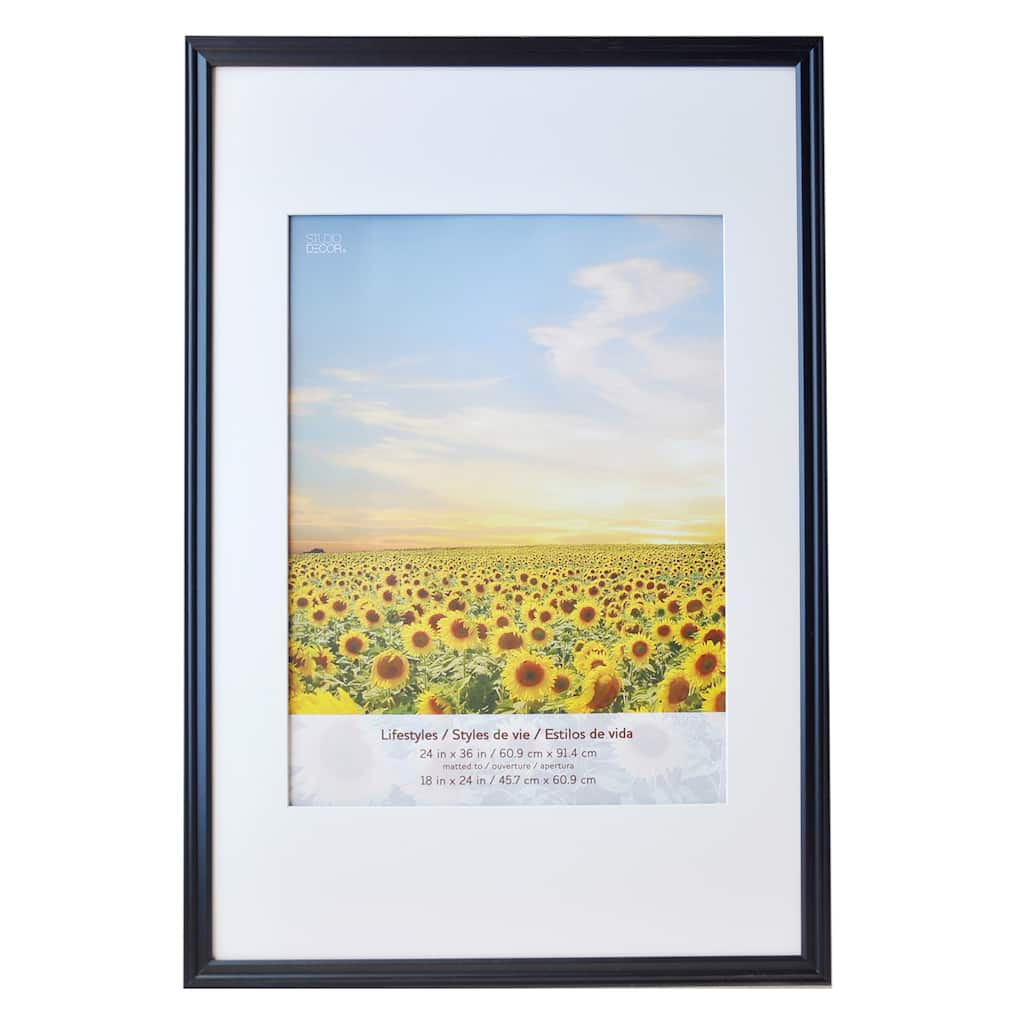 Shop for the Black Large Frame With Mat, Lifestyles™ By Studio Décor ...