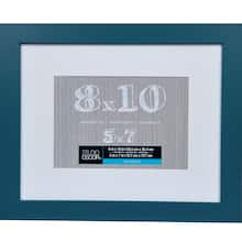 Teal Belmont Frame With Mat By Studio Décor