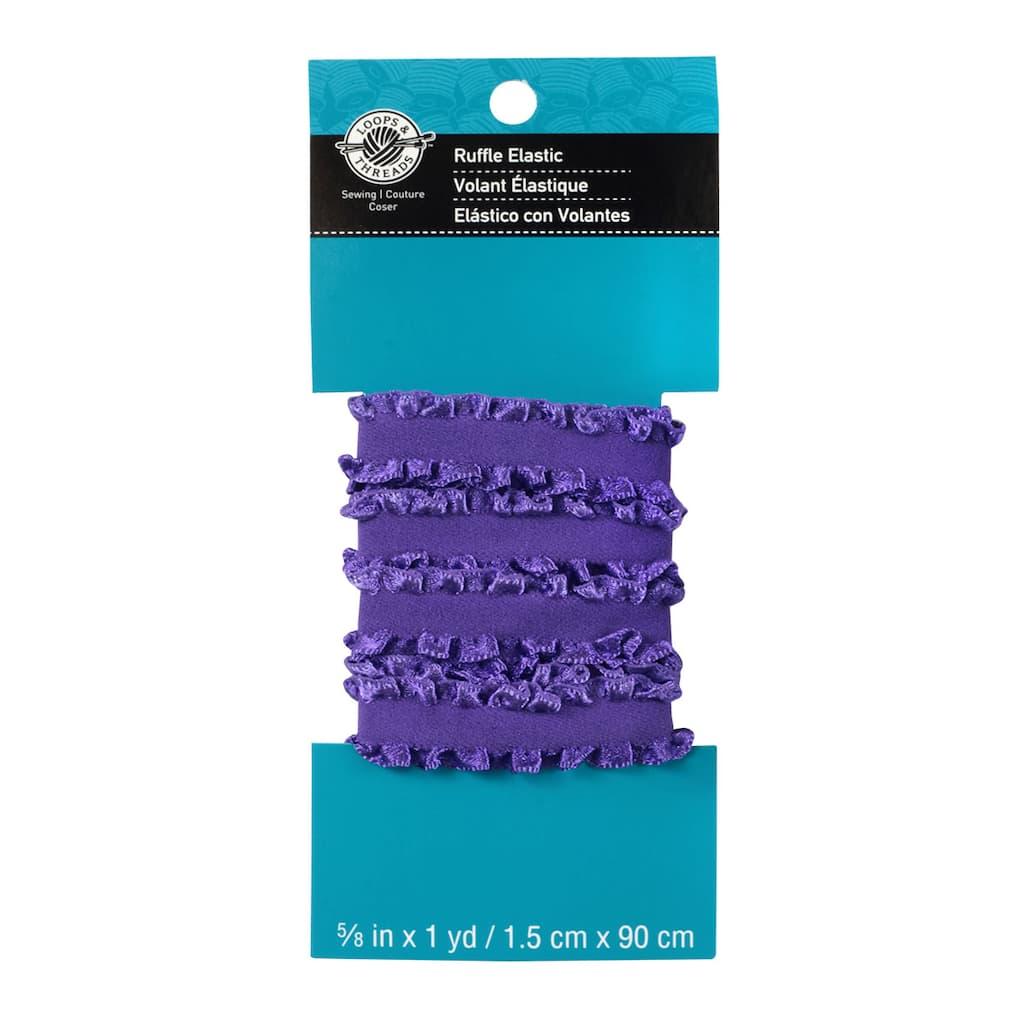 Loops & Threads Ruffle Elastic, Purple