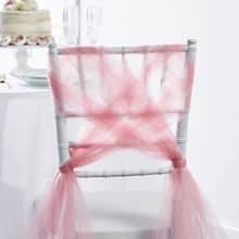 Woven Tulle Wedding Chair Back