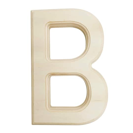 5 inch wooden letters unfinished wood letters 6 inch wooden letter b 20222 | 28712 U0992 B
