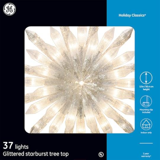 Ge Holiday Clics Glittered Starburst