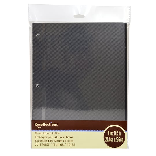 Buy The Black Photo Album Refills By Recollections At Michaels