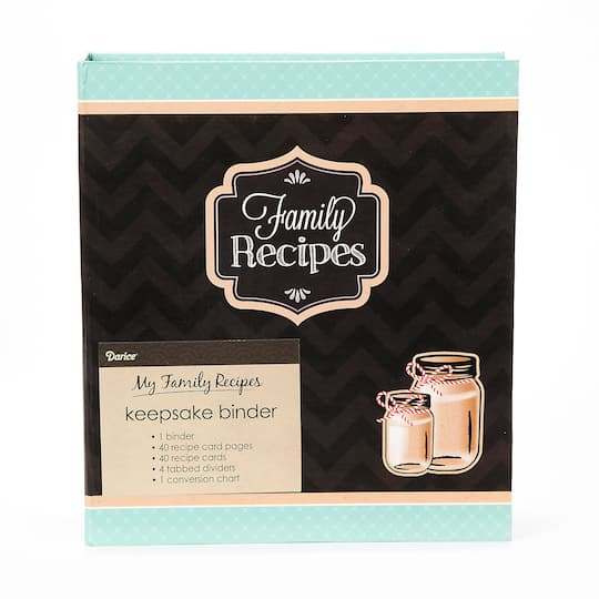 Buy The Family Recipes Binder, Teal & Black At Michaels