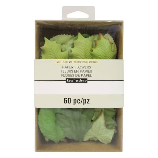 Find The Green Mulberry Paper Leaf Embellishments By Recollections