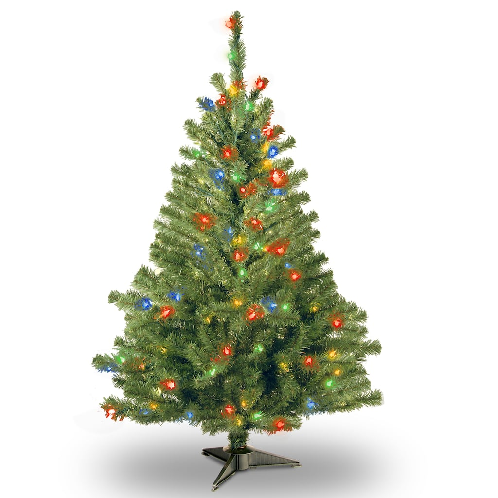 Artificial 4 Foot Christmas Trees: 4 Ft. Pre-Lit Kincaid Spruce Artificial Christmas Tree