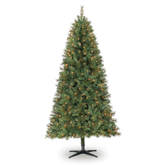 img ... - 7ft. Full Willow Pine Artificial Christmas Tree, Clear Lights By