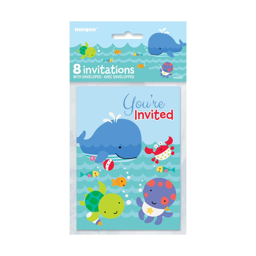 Under The Sea Invitations 8ct Img