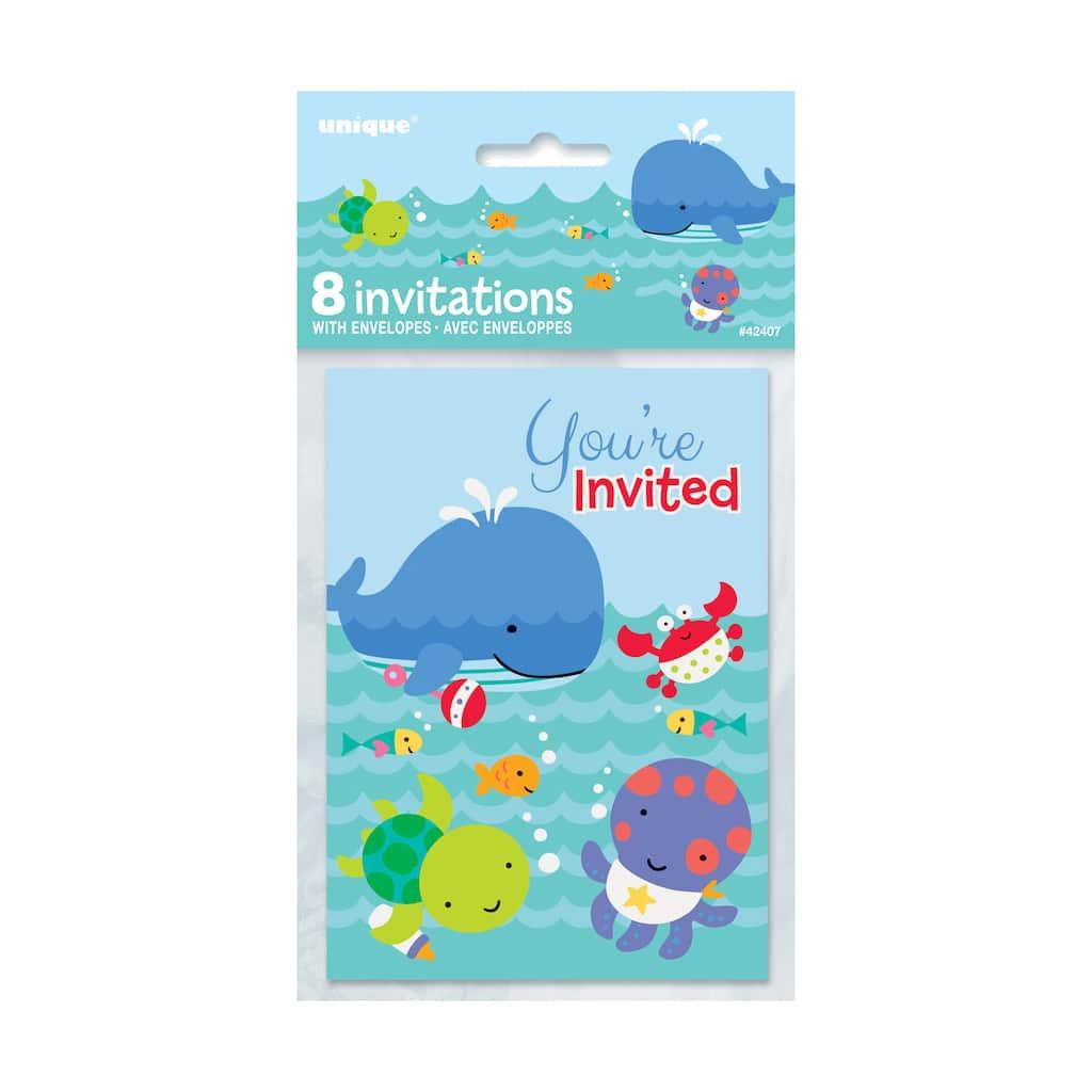 Under The Sea Invitations 8ct Img