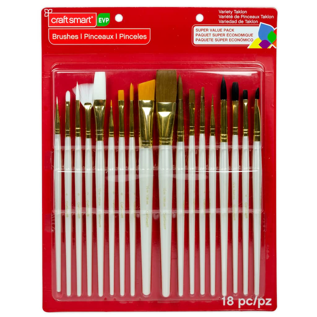 Buy The Variety Taklon Brush Super Value Pack By Craft