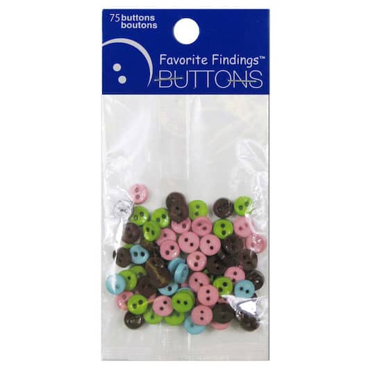 Favorite Findings™ Mini Buttons, Clean